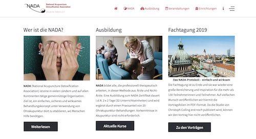 Neue Homepage für NADA – Deutsche Sektion e.V.