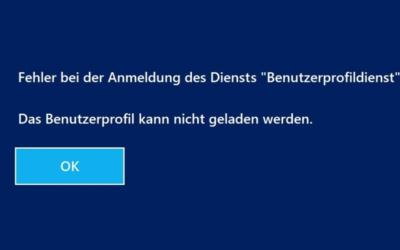 Windows 10 Update 2004 und der Benutzerprofildienst