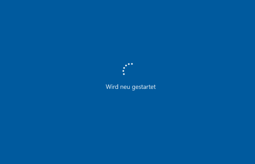 Neustart von Windows 10