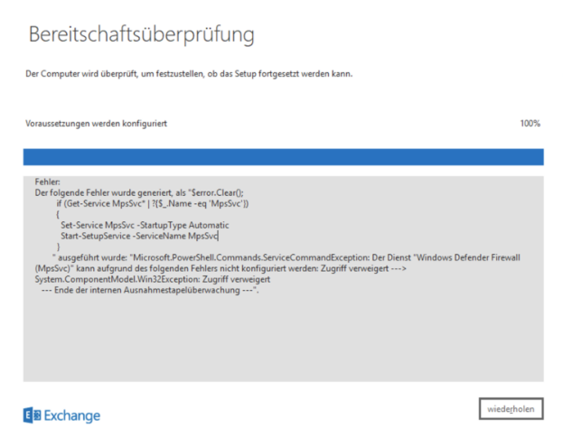 Exchange 2016 und Server 2019 – Installationsproblem